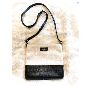 Kate Spade Black / Cream block cross body bag, med
